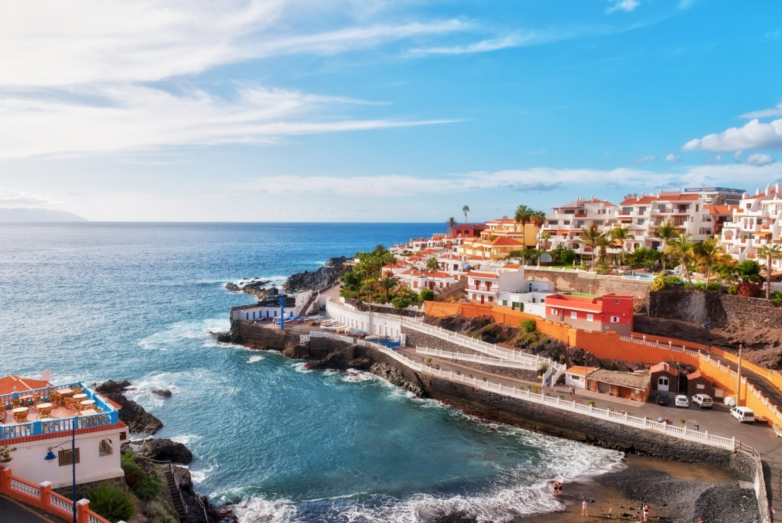 'Puerto Santiago, Tenerife, in the Spanish Canary Islands' - Kanariansaaret